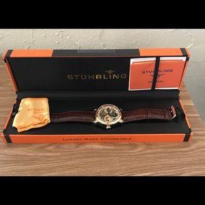 Stuhrling Men's Stainless Skeleton Watch
